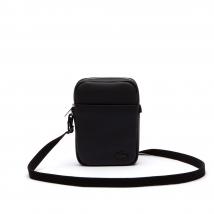 Túi Lacoste Men's Classic Petit Piqué Vertical Zip Bag Màu Đen