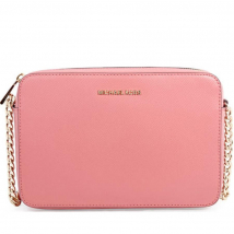 Túi Michael Kors Jet Set Large Saffiano Leather Crossbody- Rose Cho Nữ