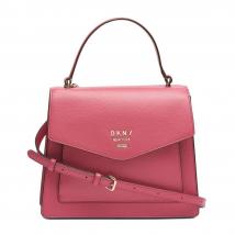 Túi Xách DKNY Whitney Leather Flap Satchel Size S Màu Hồng