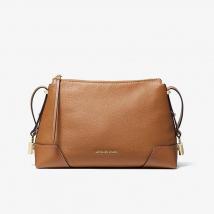 Túi Xách Michael Kors Crosby Medium Pebbled Leather Messenger Bag- Màu Nâu, Size M