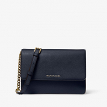 Túi Xách Michael Kors Daniela Large Saffiano Leather Crossbody Bag Màu Xanh Navy