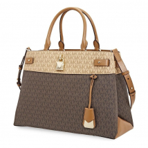 Túi Xách Michael Kors Gramercy Colorblock Large Satchel- Brown / Butternut / Acorn