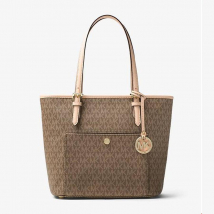 Túi Xách Michael Kors Womens Jet Set Leather Signature Tote Handbag Size M