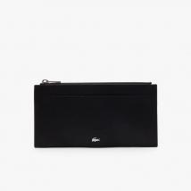 Ví Lacoste Men's Fitzgerald 6 Card Leather Zip Wallet Màu Đen