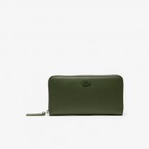Ví Lacoste Women's L.12.12 Leather 8 Card Zip Wallet Green