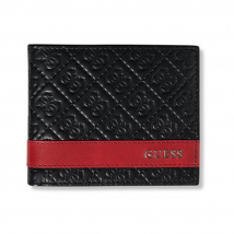 Ví Nam Guess Men's Leather Bifold With Fashion Details – 31gu13x008 Màu Đen
