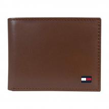 Ví Nam Tommy Hilfiger Men's Thin Sleek Casual Bifold Wallet Màu Nâu