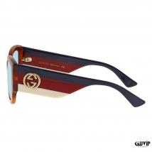 Kính Mát Gucci Blue Square Ladies Sunglasses GG0276S 003 53